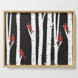 Northern Cardinal Birds Serving Tray