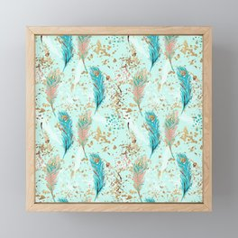 Peacock Feather Design Framed Mini Art Print