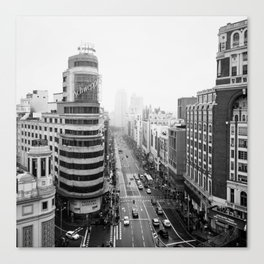 Gran Via in Madrid Canvas Print
