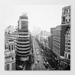 Gran Via in Madrid Canvas Print