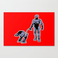 robocop Canvas Prints featuring Robocop by dutyfreak