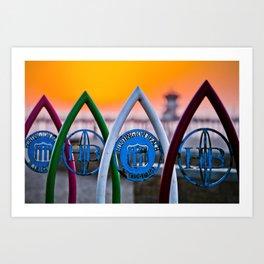 Surf City USA  ~  Huntington Beach California   Art Print