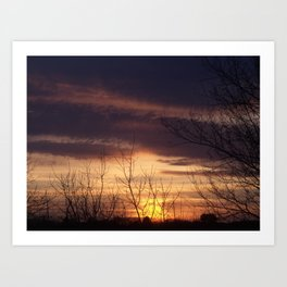 Maine Sunset Art Print