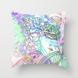 spec vertebraeyes Throw Pillow