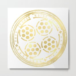 union street: paved in gold Metal Print