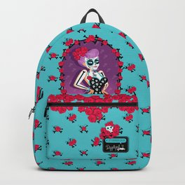 Sugar Skull Pin-Up Backpack