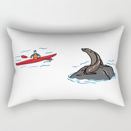 Seal and Kayak Rectangular Pillow