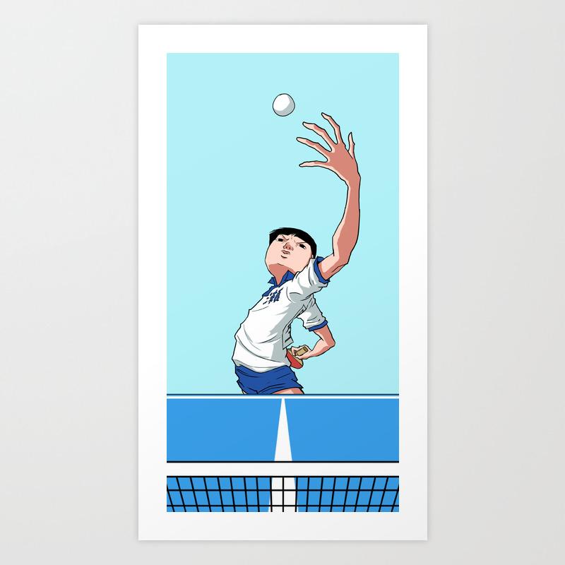 Ping Pong The Animation Fan Art Art Print By Rodrigo Lima Society6