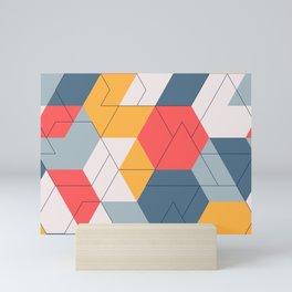 Geometric colors and lines pattern Mini Art Print