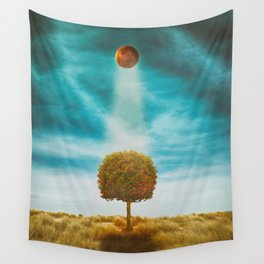 Earth Reflection of Universe Wall Tapestry