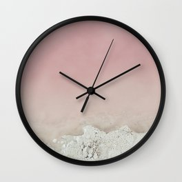 Pink Water Wall Clock