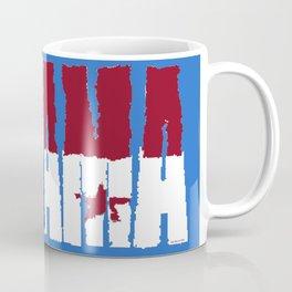 Panama Font with Panamanian Flag Coffee Mug