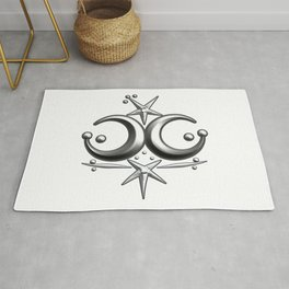 Iceni Silver Moons and Stars. Rug