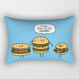 Burger Bullies Rectangular Pillow