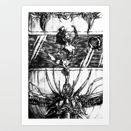 The Freedom Of A Cage Of Music Art Print