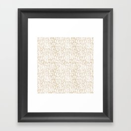 Alphabut wait there's more lite Framed Art Print