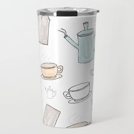Tea Pattern Party Travel Mug