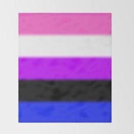 Genderfluid Pride Flag Throw Blanket