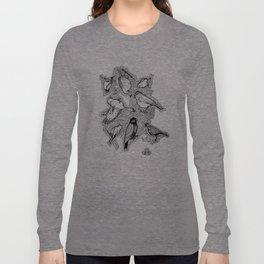Doodle Birds Long Sleeve T-shirt