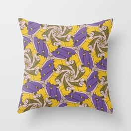 Put It Right Here Babe tessellation Throw Pillow