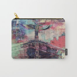 Totem Cabin Abstract - Multi Carry-All Pouch