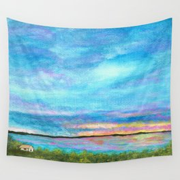 Good Morning, Beach House Sunrise Wall Tapestry