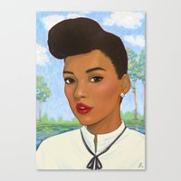 monet Canvas Prints featuring Janelle Monet by Sayada Ramdial