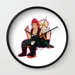 Heroes need their downtime too - Pink Border Wall Clock
