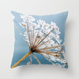 Meadow Hogweed Throw Pillow