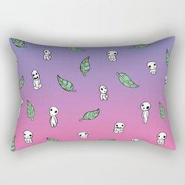 Moonrise Kodama Pattern Rectangular Pillow