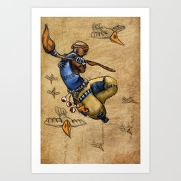 Malnourished Colored Art Print