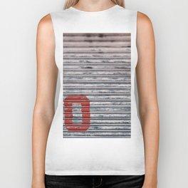 Abstract Corrugated Metal Texture - No Biker Tank