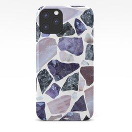 Gemstone Mosaic - White Grout iPhone Case