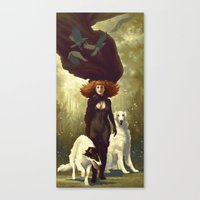dogs Canvas Prints featuring Dogs by Kelly Perry