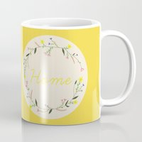 home sweet home Mugs featuring Home by Babiole Design
