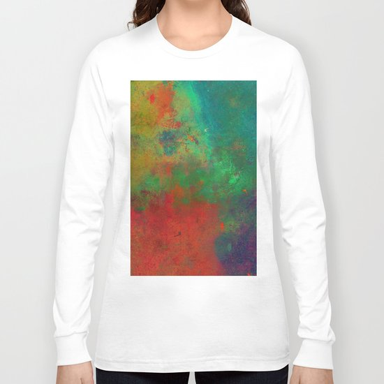Lose Yourself In Colour (Abstract, textured painting) Long Sleeve T-shirt