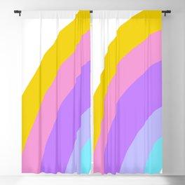 Sweet Candy Rainbow Stripes Blackout Curtain