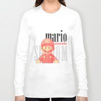 mario Long Sleeve T-shirts featuring Mario by Thomas Official