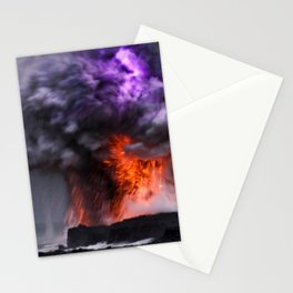 Kilauea Volcano at Kalapana 7 Stationery Cards