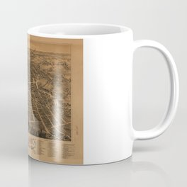 Aerial View of Dover, New Hampshire (1888) Coffee Mug