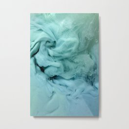 Blue and Green Swirl Metal Print