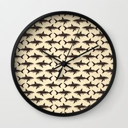 Pattern: Great White Shark ~ Vintage ~ (Copyright 2015) Wall Clock