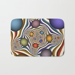 Flying Up, Colorful, Modern, Abstract Fractal Art Bath Mat