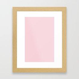 BLUSH PINK COTTON CANDY SOLID COLOR Framed Art Print