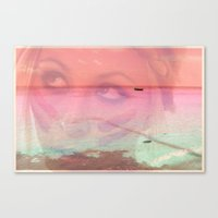 80s Canvas Prints featuring 80s KISSES by HEALTH