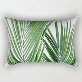 Tropical Leaves | Palm Tree Leaf Photography Rectangular Pillow