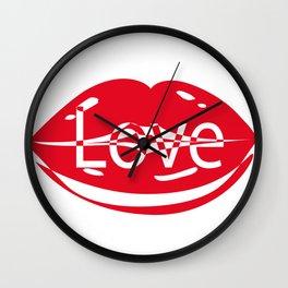 you love me Wall Clock