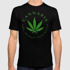 Cannabis MEDIUM Mens Fitted Tee Black