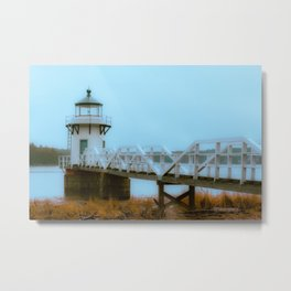 Doubling Point Kennebec River Bath Maine New England Lighthouse Soft Glow  Metal Print