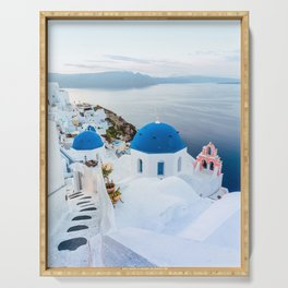 Beautiful Greece Views Serving Tray